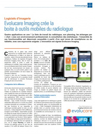 Evolucare Imaging creates a mobile toolbox for radiologists