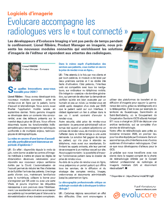 """Evolucare helps radiologists move towards the """"all-connected"""" world."""